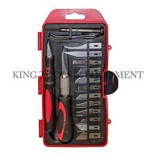 KING 16-pc Craft Hobby Knife Set, w/ Exacto Precision Cutting Blades & Tweezers