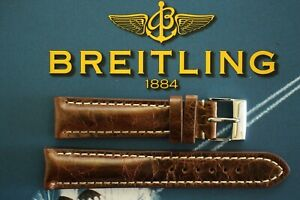 QUALITY 20MM MRB BROWN LEATHER WATCH BAND WATCHBAND BRACELET STRAP FOR BREITLING