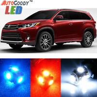 13 x Premium Xenon White LED Lights Interior Package for Toyota Highlander +Tool