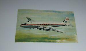 Qantas Postcard Empire Airways Skymaster DC4 VH-EBM  Qantas There's A World