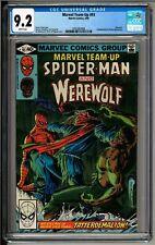 Marvel Team-up #93 CGC 9.2 White Pages! Spider-man! Werewolf by Night!