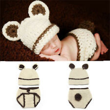 New Newborn Baby Girl's Crochet Knit Clothes Photo Photography Prop Costume Hat