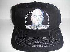 Vintage 1999 Austin Powers Strapback Dad Hat Dr. Evil Movie OSFA Black NEW W/Tag