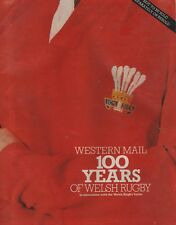 """J.B.G.THOMAS (and others) - """"WESTERN MAIL 100 YEARS OF WELSH RUGBY"""" - PB (1981)"""