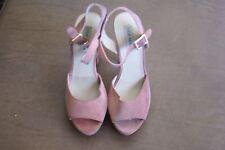 "Steve Madden ""Dynemite"" dusty pink suede high platform sandals size 10 M"