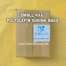 """500-4""""x6"""" Polyolefin Shrink Bags (smell through), Usa Seller"""