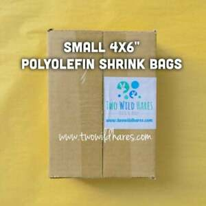 "500-4""x6"" Polyolefin Shrink Bags (smell through), USA Seller"
