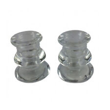 Set of 2 Glass Candle Holders  Clear Dinner Table Candlestick Holder BEST VALUE