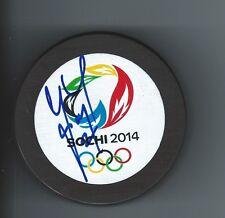 Marek ZIDLICKY Signed SOCHI 2014 Olympics Czech Puck DEVILS