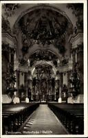 Ottobeuren Bayern Ansichtskarte 1941 gelaufen Inneres der Klosterkirche Basilika