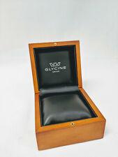 "Glycine Watch Box Small, Wood, New,  4.5"" x 4.5"" x 3.5""  Inches"