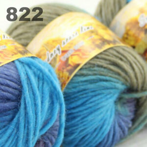 SALE LOT of 3 Skeins x 50g NEW Chunky Colorful Hand Knitting Scores Wool Yarn 22
