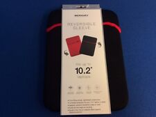 Protective Reversible Sleeve, fits up to 10.2 inch tablet or laptop, black/red