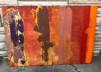 "Original Abstract Art - 1972 - ""untitled"" Canal XIV 40"" x 58"" Herbert Schiffrin"