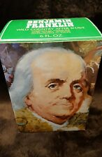 Vintage Avon 1974 Benjamin Franklin Wild Country After Shave Decanter with Box