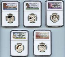 2012 S ATB NP Silver Quarter PF70 Ultra Cameo NGC 25c Proof Certified Set