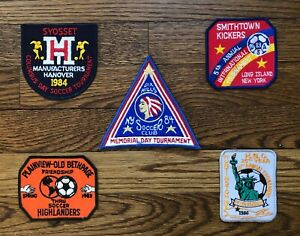 VINTAGE 1980s SOCCER PATCHES - LONG ISLAND, NEW YORK - LOT
