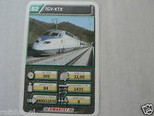 22 SUPER TRAIN B2 TGV-KTX TREIN KWARTET KAART, QUARTETT CARD