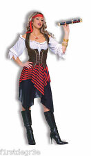 SWEET BUCCANEER LADY PIRATE ADULT HALLOWEEN COSTUME ONE SIZE FITS UP TO 14/16