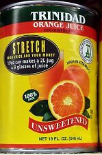 Trinidad Orange Juice 19oz 100% juice (4 pack)