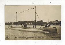 1916 Germany Postcard U Boat Submarine Deutschland in Flag Gala Feldpost Cover