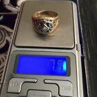 14k Vtg Men's Diamond Masonic Ring Size 11 Weighs 7.9 Grams Mfg Is Triangle Shap for sale