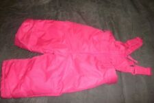 NEW Cat & Jack Girl's Pink Snow Ski Bib Overalls - Size: 12M (B76)