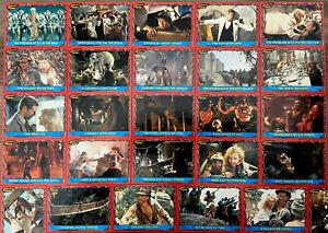 Indiana Jones™ TRADING CARDS Temple of Doom TOPPS Collectors Set