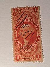 Us Internal Revenue Inland Exchange 1 Dollar Stamp Scott's R66A