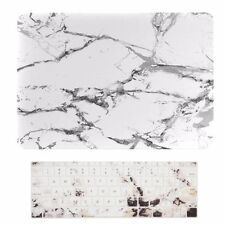 "2016 Macbook Pro 13"" NO TOUCH BAR A1708, MARBLE WHITE Matte Case + Keyboard Skin"