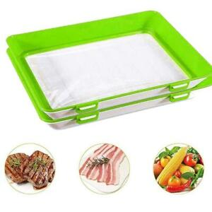 2 Pack Food Preservation Tray Stackable Food Tray for Refrigerator Freezer
