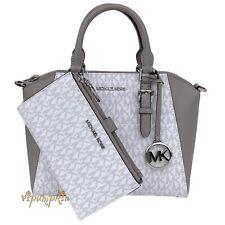Michael Kors Saffiano Leather Messenger Bag, Size Medium - Bright White