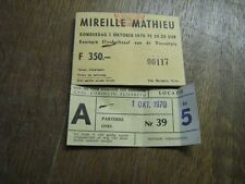 MIREILLE MATHIEU BILLET DE SPECTACLE BELGIQUE 1970 4