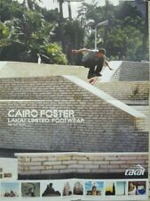 Cairo Foster 2005ish Lakai Skateboard promotional poster Flawless New Old Stock