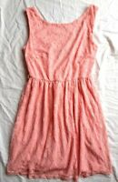dress pink floral lace dress tea size 8 mini evening party skater stretch salmon