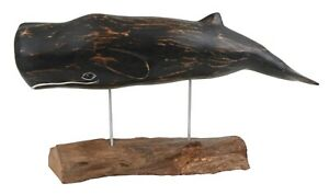 Archipelago Hand Carved Wooden Whales Sperm Whale Large 47cm Long