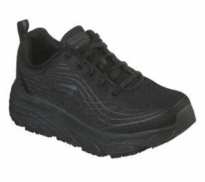 Wide Work Slip Resistant Skechers Black Shoes Women's Memory Foam Cushion 108016