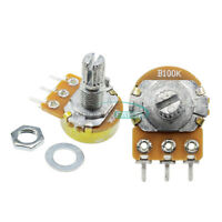 10PCS 100K OHM  Linear Taper Rotary Potentiometer Panel pot B100K 15mm 3 Pins