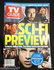SDCC Comic Con 2012 EXCLUSIVE TV Guide Magazine July 2012 Sci-Fi Preview