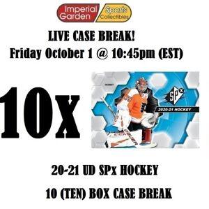 2020-21 UD SPX HOCKEY 10 BOX CASE BREAK #2734 - Chicago Blackhawks