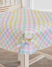 Set of 2 Spring Splendor Gingham Seat Covers in Multicolor