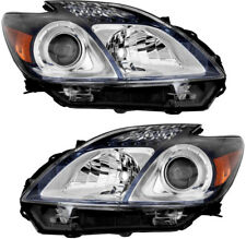 Headlight Headlights Headlamps CAPA NEW Pair Set for 12-13 Toyota Prius Plug-In