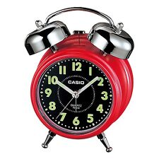 Casio TQ362-4A - Red/Black Desk Top Bell Snooze Alarm Quartz Clock W/Battery