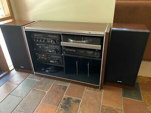 AWA Retro Sound System in original cabinet with SP-03 Turntable