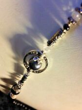 NEW - SO PRETTY 'MADE with LOVE' Silver-Toned LUXURY Beaded Glasses Chain Cord
