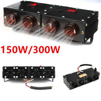 Hot ! 4-Hole 150W/300W Two Switch 12V  Car Portable Metal Heating Dry Heater Fan