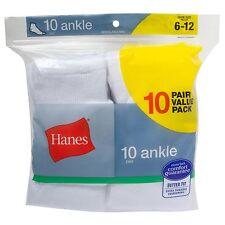 New Hanes Men's Ankle Socks (Pack of 10) White 10-13 / Shoe: 6-12 Hanes