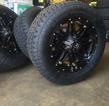 "20"" Fuel D531 Hostage Black Wheels 33"" Toyo AT2 Tires 5x150 Toyota Tundra"