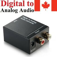 Digital Optical Coax to Analog RCA Audio Adapter Converter Box 3.5mm Jack Cable