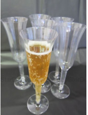 Champagne Flutes Pack of 10 Wine Party Glasses Wedding Toast Plastic Disposable